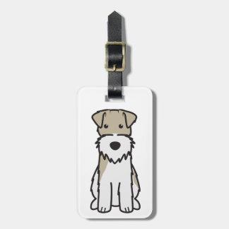 Wire Fox Terrier Dog Cartoon Luggage Tag