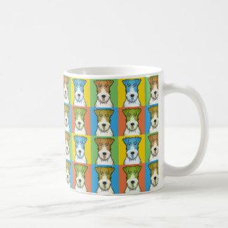 Wire Fox Terrier Dog Cartoon Pop-Art Coffee Mug