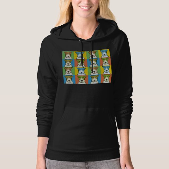 Wire Fox Terrier Dog Cartoon Pop-Art Hoodie