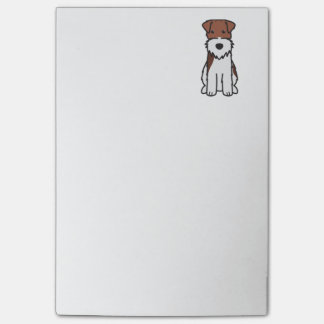 Wire Fox Terrier Dog Cartoon Post-it® Notes