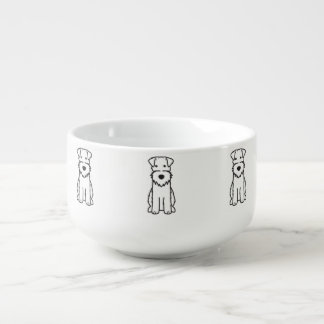 Wire Fox Terrier Dog Cartoon Soup Mug