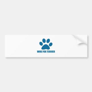 WIRE FOX TERRIER DOG DESIGNS BUMPER STICKER