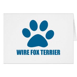WIRE FOX TERRIER DOG DESIGNS CARD