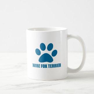 WIRE FOX TERRIER DOG DESIGNS COFFEE MUG