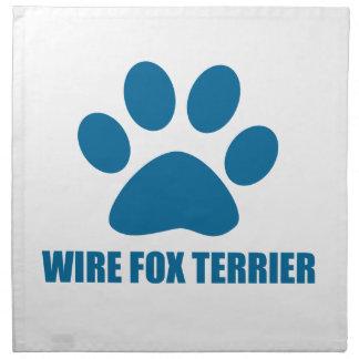 WIRE FOX TERRIER DOG DESIGNS NAPKIN