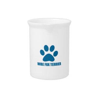 WIRE FOX TERRIER DOG DESIGNS PITCHER
