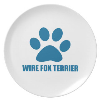 WIRE FOX TERRIER DOG DESIGNS PLATE