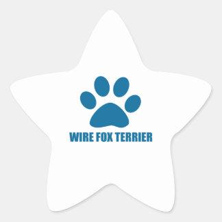 WIRE FOX TERRIER DOG DESIGNS STAR STICKER
