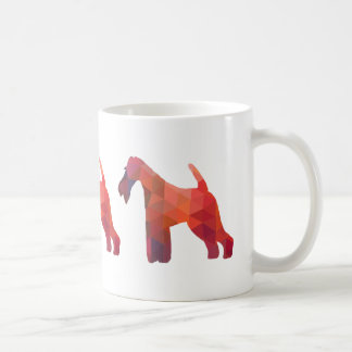 Wire Fox Terrier Geometric Pattern Silhouette Coffee Mug