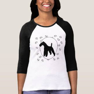 Wire Fox Terrier Hearts and Pawprints T-Shirt