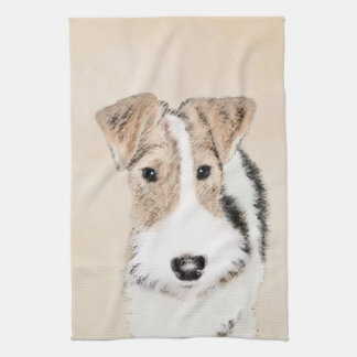 Wire Fox Terrier Kitchen Towel