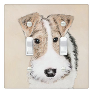 Wire Fox Terrier Light Switch Cover