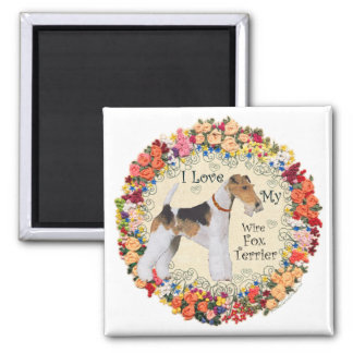 Wire Fox Terrier Love Magnet