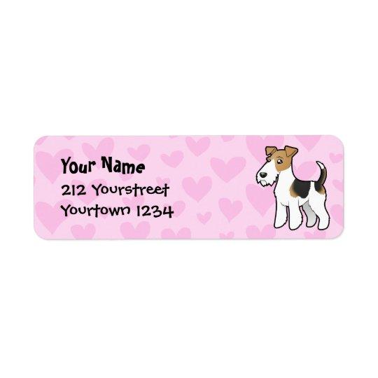 Wire Fox Terrier Love Return Address Label