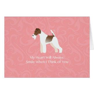 Wire Fox Terrier Minimalist Silhouette Design Card