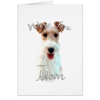 Wire Fox Terrier Mom 2 Card