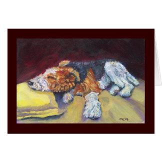 Wire Fox Terrier Nap Card