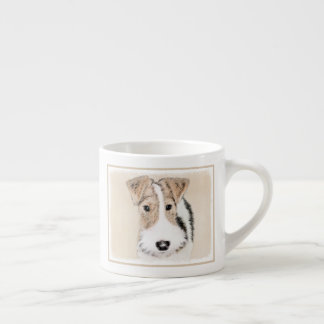 Wire Fox Terrier Painting - Cute Original Dog Art Espresso Cup