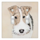 Wire Fox Terrier Painting - Cute Original Dog Art Light Switch Cover