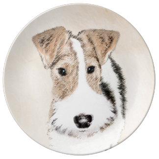 Wire Fox Terrier Plate