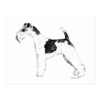 Wire Fox Terrier Postcard
