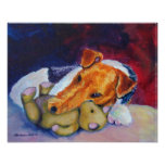 Wire Fox Terrier Print Poster
