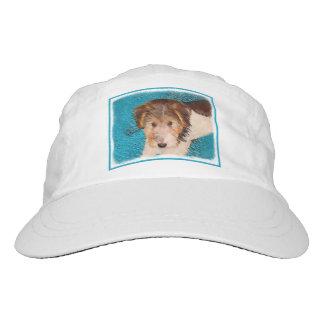 Wire Fox Terrier Puppy Painting - Original Dog Art Hat