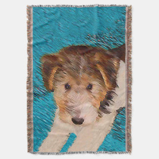 Wire Fox Terrier Puppy Throw Blanket