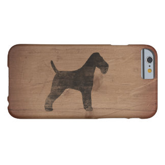 Wire Fox Terrier Silhouette Rustic Barely There iPhone 6 Case