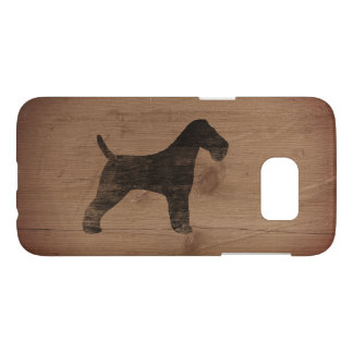 Wire Fox Terrier Silhouette Rustic Samsung Galaxy S7 Case
