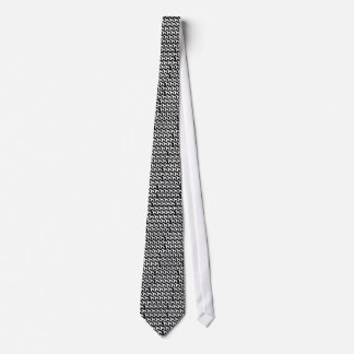 Wire Fox Terrier silhouette (White) Tie