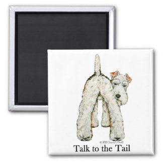 Wire Fox Terrier Tail Magnet