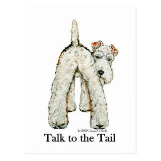 Wire Fox Terrier Tail Postcard