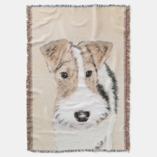 Wire Fox Terrier Throw Blanket