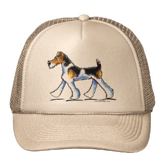 Wire Fox Terrier Trot Trucker Hat