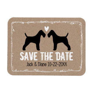Wire Fox Terriers Wedding Save the Date Magnet