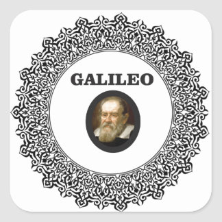 wire frame galileo square sticker
