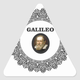 wire frame galileo triangle sticker
