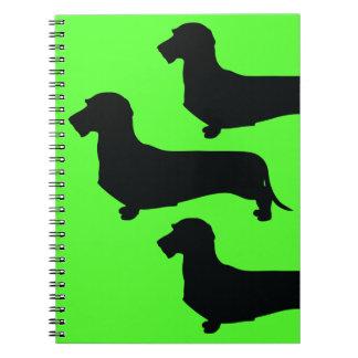 Wire Hair Dachshund Spiral Notebook