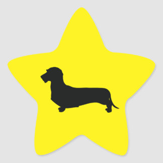 Wire Hair Dachshund Star Sticker