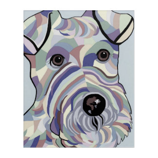Wire Hair Terrier in Denim Acrylic Print