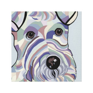 Wire Hair Terrier in Denim Colors Canvas Print