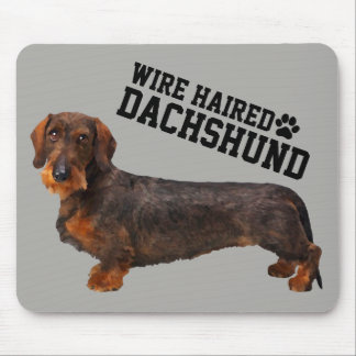 Wire Haired Dachshund Illustrated Mousepad