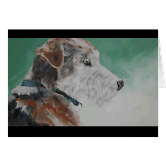 Wire haired fox terrier card