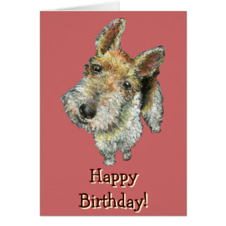 Wire-haired-fox-terrier Card