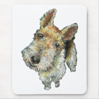 Wire-haired-fox-terrier Mouse Pad