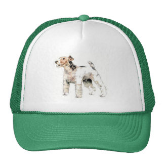 Wire Haired Fox Terrier Trucker Hat