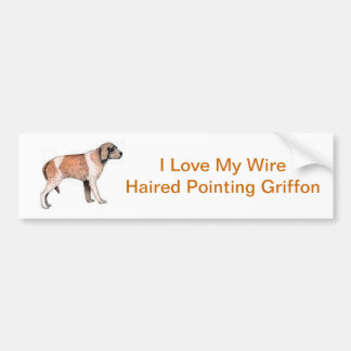 Wire Haired Pointing Griffon Bumper Sticker