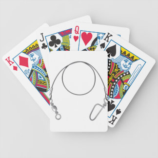 Wire leader vector illustration clip-art fishing bicycle playing cards