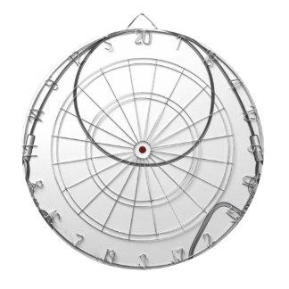 Wire leader vector illustration clip-art fishing dartboard